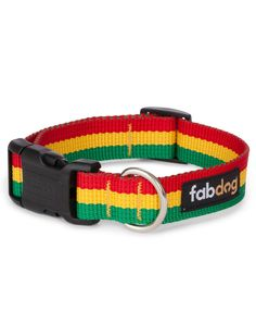 Shop where every purchase helps shelter pets! Fab Dog Rasta Stripe Collar - from $19.99