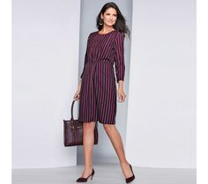 3 Suisses im Outlet SALE günstig bis Dresses For Work, Dresses With Sleeves, Red And Blue, Cold Shoulder Dress, Long Sleeve, Style, Autumn Fall, Products, Fashion