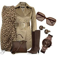 Brown Winter 2013 Outfits for Women by Stylish Eve