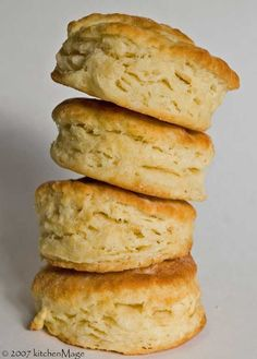 Great for biscuits & Gravy! Flaky buttery and fast. All-purpose flour2 1/4 cups Salt 3/4 tsp Sugar 1 tsp Baking powder 4 tsp Butter, very cold 1/3 cup Milk, very cold 1 cup