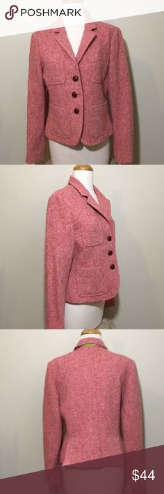 J crew pink tweed button front jacket 12 J crew pink tweed button front jacket 12 J. Crew Jackets & Coats