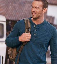 Ultimate layering warmth and versatility in henley and crew styles. These are the shirts he'll be reaching for all season long. #eddiebauer #ShopBurrRidge
