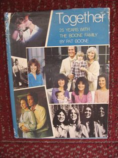 Pat Boone Book Together 25 years Boone Family by twysp2 on Etsy, $22.00