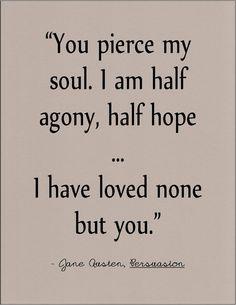Jane Austen Persuasion literary quote on love by jenniferdare on Etsy, $10.00