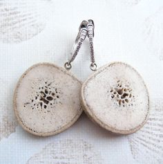Oosik Slice Earrings. $285.00, via Etsy.