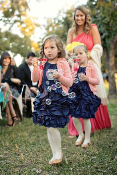 Another great basket alternative for flower girls are bubbles! Especially perfect for outdoor weddings this spring and summer.  For more flower girl ideas, tips and fun visit us at www.flowergirlworld.com