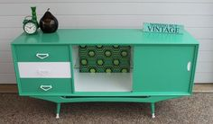 ultra retro green and white sideboard                                                                                                                                                     More