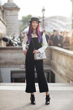 Tell me about your outfit, what you are wearing? - I'm wearing a jumpsuit from Lucky and blouse, hat, shoes and bag from Chanel. Read more and comment! http://carolinesmode.com/stockholmstreetstyle/ar