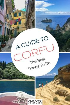Planning a trip to the paradise greek islands? Put Corfu on your bucket lists! Weve got the ultimate guide of things to do in this Europe destination from visiting corfu town staying in beautiful accommodation renting a boat independently and more! Greece Destinations, Greece Itinerary, Greece Travel, Travel Destinations, Travel Tips, Greece Vacation, Travel Hacks, Vacation Spots, Emerald Isle