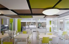 Cafetería Boa, Grupo Escolar Paul Bert y Léon Blum, Lille, Francia - D'Houndt+Bajart Architectes & Associés - © Julien Lanoo
