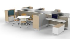 KI Unite Panel System, KI WorkUp Adjustable Desking
