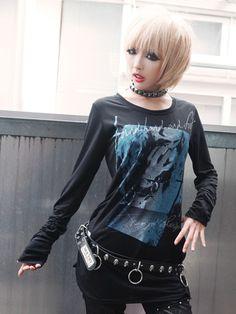 CDJapan : BOUND Shirring Long Sleeve Cutsew (S) SA84856-10109 SEX POT ReVeNGE APPAREL. See more at: http://www.cdjapan.co.jp/apparel/ #punk #jrock #mensfashion