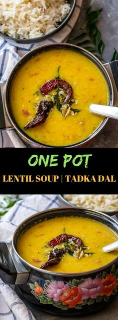 You'll love this simple yet flavorful Tadka dal (tempered dal) recipe - make it in an Instant Pot or a pressure cooker - and your meal is ready in no time. via @simmertoslimmer