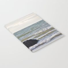 Windsurfer and black stone at gray sea Notebook by poppyshome Journal Entries, Wraparound, Notebooks, Minimal, Doodles, Deep, Ink, Printed, Stone