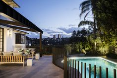 Bellevue Hill - Hilltop Retreat - Growing Rooms - Landscapes For Outdoor Living - This fence! Tropical Landscaping, Garden Landscaping, Landscape Design, Garden Design, Sydney Gardens, Kidney Shaped Pool, Garden On A Hill, Fire Pit Area, Backyard Patio Designs