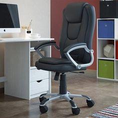 Cadeira de Escritório Presidente Office Interlink Monti Preto