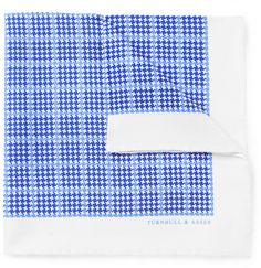 Turnbull & Asser Check-Print Silk Pocket Square on shopstyle.co.uk