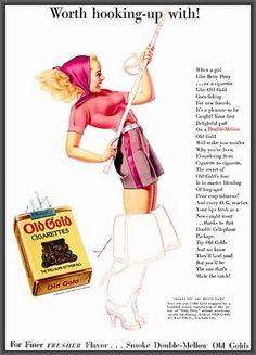 George Petty illustration, Old Gold cigarette ad, 1939