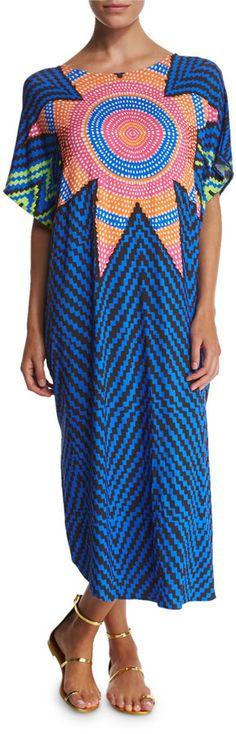 Mara Hoffman Starbasket Printed Caftan Coverup Dress