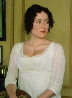Jane Austen Clothing (Jennifer Ehle as Ms Eliza Bennet Recycled Costumes, Regency Dress, Regency Era, Jennifer Ehle, Elizabeth Bennett, Jane Austen Movies, Pride And Prejudice 2005, Historical Costume, Ladies Day