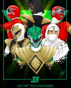 Tommy Power Ranger Through The Years Power Rangers Fan Art, Power Rangers Zeo, Mighty Morphin Power Rangers, Dino Rangers, Pawer Rangers, Tommy Power, Jesus Reyes, Tommy Oliver, Green Ranger