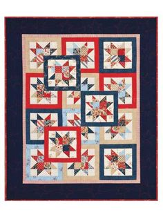 """Although this quilt looks complicated, it's really only 1 simple block!    Color-illustrated directions make it easy to stitch. It's a perfect pattern for the beginner, and advanced quilters will love to stitch this one up fast.  Finished sizes:  Crib: 34"""" x 42"""" using 8 fat quarters Twin/Lap: 68"""" x 84"""" using 12 fat quarters Queen: 100"""" x 116"""" using 30 fat quarters"""