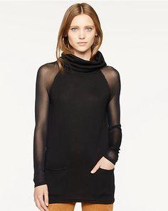 $293.30 Sheer-Sleeved Turtleneck - Turtlenecks  Sweaters - RalphLauren.com