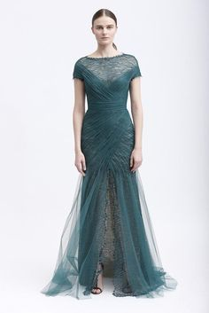A wedding-worthy teal gown from Monique Lhuilllier pre-fall 2013 collection    LOVE