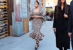 Nicki Minaj in leopard Givenchy