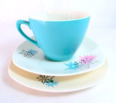 Retro Atomic Tea Trio Midwinter Stylecraft  'Quite by keepsies