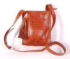 17B Vabeene Tasche Leder geflochten braun Crossbody Bag Umhängetasche Quaste