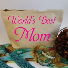 World's Best Mom Wash Bag. Toiletry Bag. Cosmetics Bag. Accessory Bag. Mothers Day Gift. Gift for Mum. Birthday Gift. by SoPinkUK on Etsy