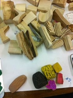 Wood tests by Nia Davies, student at UCA Rochester Contemporary Jewellery