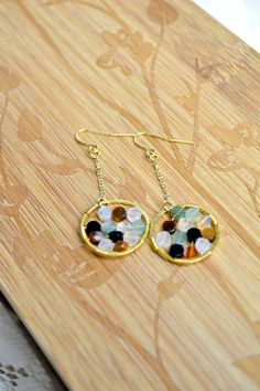 wire wrapped stone earrings
