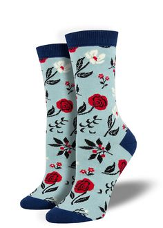 Womens athletic socks Tropical red flower leaf seamless patterns Thin Casual Warm novelty running socks
