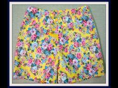How to Sew----簡易短褲作法 - YouTube