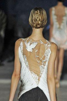 Sheer back, bird detail { posture alert! get your ballerina backs ready! }