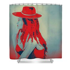 Woman In Red Shower Curtain by Faye Anastasopoulou. This shower curtain is made from polyester fabric and includes 12 holes at the top of the curtain for simple hanging. The total dimensions of the shower curtain are wide x tall. Red Shower Curtains, Beautiful Modern Homes, Fancy Houses, Pattern Pictures, Curtains With Rings, Curtains For Sale, My Themes, Tag Art, Basic Colors