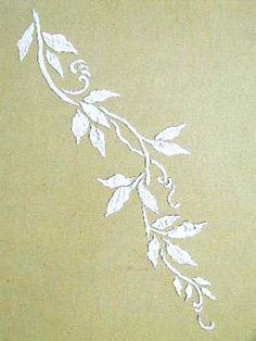 Raised Plaster Vine Stencil Paint Stencil by VictoriaLarsenDecor, $18.99