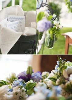 Outdoor Spring Wedding with Country Chic Charm | OneWed, Flowers by Artfully Arranged