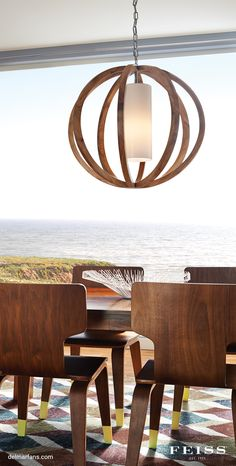 The Feiss Allier one light large pendant in light wood / brushed steel provides abundant light to your home, while adding style and interest. Named for a French forest from which wood is used for wine barrels, the Allier Lighting Collection features orbs made of aged oak which is kiln-dried to prevent cracking. | Del Mar Fans & Lighting Lighting Fixtures, Feiss, Lighting, Sconces, Wine Barrel, Feiss Lighting, Fan Light, Lights, Fixtures