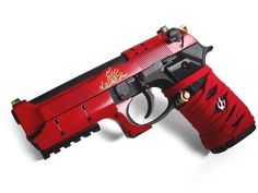 Yuri Custom Gun Works = Red Enamel Pistol.