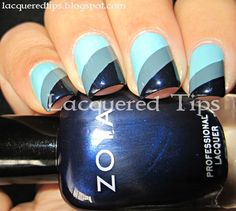 LACQUERED TIPS: Scotch Tape Nails