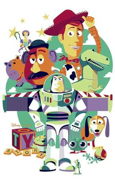 Toy Story - PosterSpy : Beautiful decor for a Toy Story birthday party! Pixar's Toy Story Toy Story Room, Toy Story Movie, New Toy Story, Toy Story Party, Toy Story Birthday, Story Story, Birthday Kids, Cartoon Cartoon, Cartoon Posters