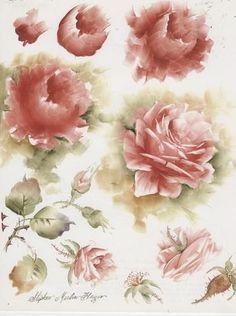 Passo a passo , a criação de pequenas rosas de Ann Zitterkopf ...