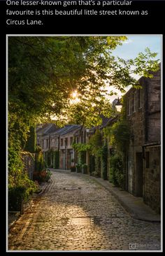 ~ Circus Lane, Edinburgh, Scotland ~ Next Trip next year Oh The Places You'll Go, Places To Travel, Travel Destinations, Places To Visit, Travel Tourism, Air Travel, Scotland Travel, Scotland Nature, Glasgow Scotland