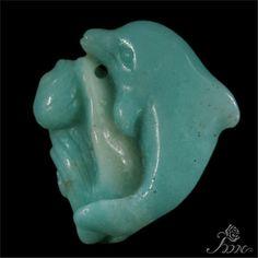 Hand-carved Dolphin Multi-color Amazonite  Pendant Bead #PDN #Pendant