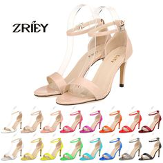 Women Sexy Sandals Open Toe Ankle Straps Sandals High Heels Pumps Bridal Pumps #ZriEy #OpenToe #BridalorWedding