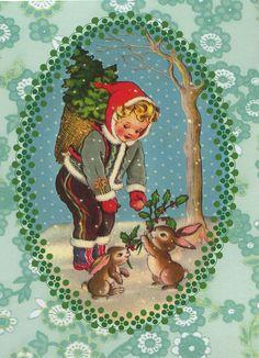 Christmas postcard (Belgium) by katya., via Flickr