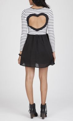 L/S Heart Back Dress by Reverse $69.99